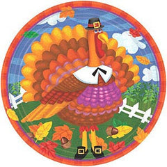 Turkey Fun Plates - 9""