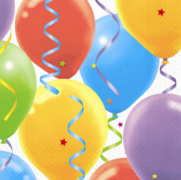 Balloon Celebration Beverage Napkins