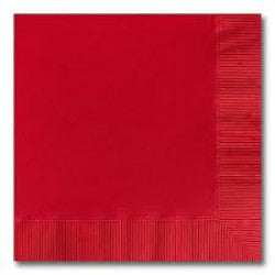 Beverage Napkins - Red - 20