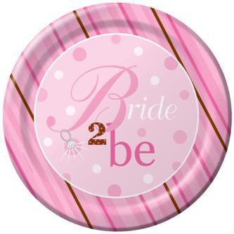 Bride 2 Be Dots Plates - 10 1/4""