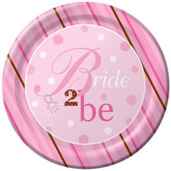 Bride 2 Be Dots Table Cover - Plastic