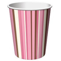Blush Stripes - Cups - 9 oz.