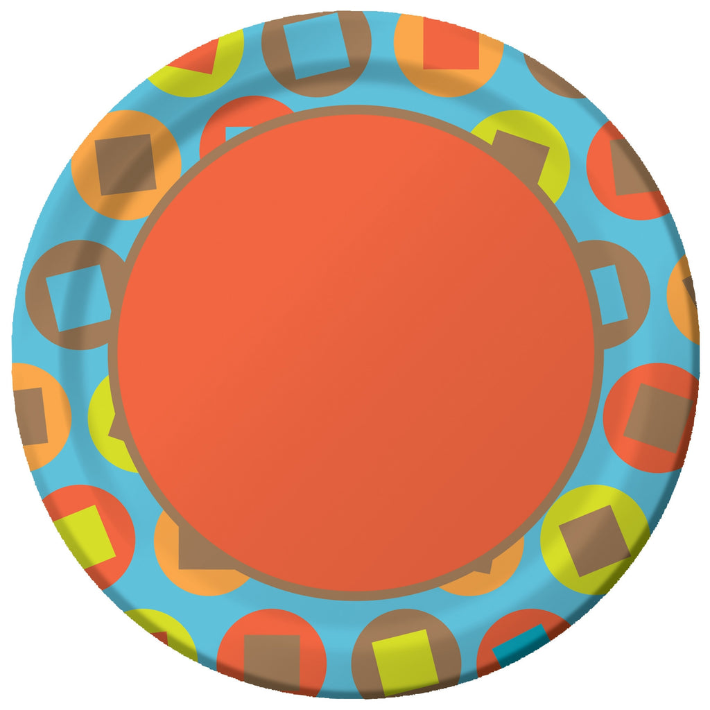 Circles & Squares - Dinner Plates - 8 3/4""