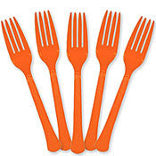 Cutlery - Forks - Orange - Heavy Weight - 50