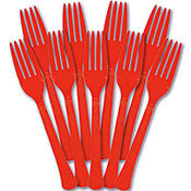 Cutlery - Forks - Red - Heavy Weight - 50