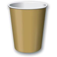 Cups - Gold 9 oz