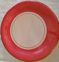Plates - Red Trim - 9""