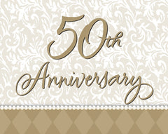 Gold Wishes Invitations 50th Anniversary