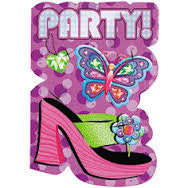 Glitzy Girl - Lunch Napkins - Birthday