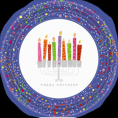 Hanukkah Playful Menorah Lunch Napkins