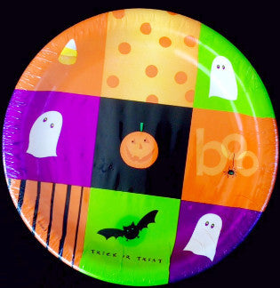 Halloween Squares Cocktail Plates  6 3/4