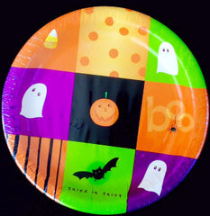 Halloween Squares Cocktail Plates - 8 3/4