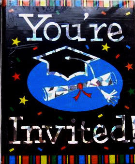 Grad Stripes - Invitations