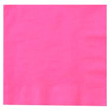 Lunch Napkins - Bright Pink - 20