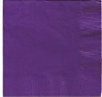 Beverage Napkins -  Purple- 20