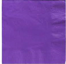 Lunch Napkins - Purple - 20