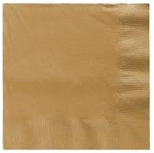 Lunch Napkins - Gold - 16