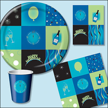 New Year Squares Beverage Napkins