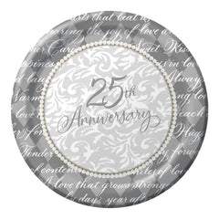 Platinum Wishes Invitations - 25th Anniversary