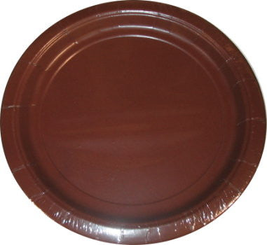 Chocolate Brown Paper Plates - 10.5""