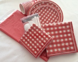Red Plaid Party Package