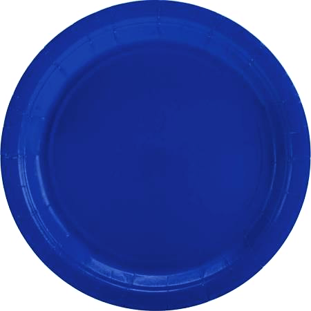 Bright Royal Blue Plates - 9""