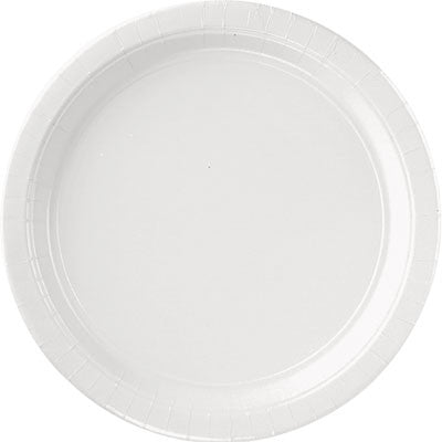 Frosty White Paper Plates - 9""