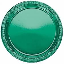 Plates - Plastic - Forest Green - 7""