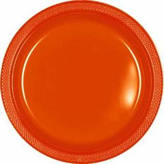 "Orange Peel Plastic Plates - 9"" - 40"