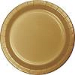 Glittering Gold Paper Plates - 8 3/4""
