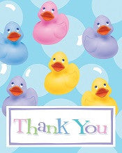 Rubber Ducky Thank You Notes