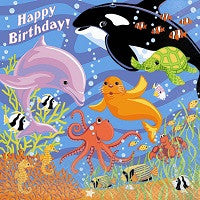 Under the Sea Lunch Napkins - Happy Birthday