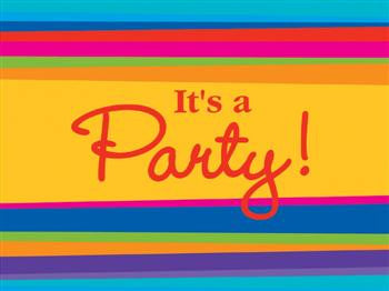 Stripes Invitations - It's a Party!