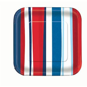 Patriotic Summer Stripes - Plates 9""