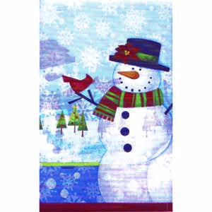 Frosty Friends Plastic Table Cover