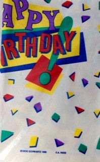 Table Cover Paper Happy Birthday