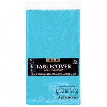 Solid Table Covers - Plastic - Rectangle - Caribbean