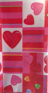 Table Cover Plastic Valentine Candy