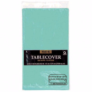 Solid Table Cover Plastic Aqua