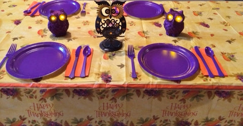 THANKSGIVING OWL TABLESCAPE INCLUDES TABLESETTING