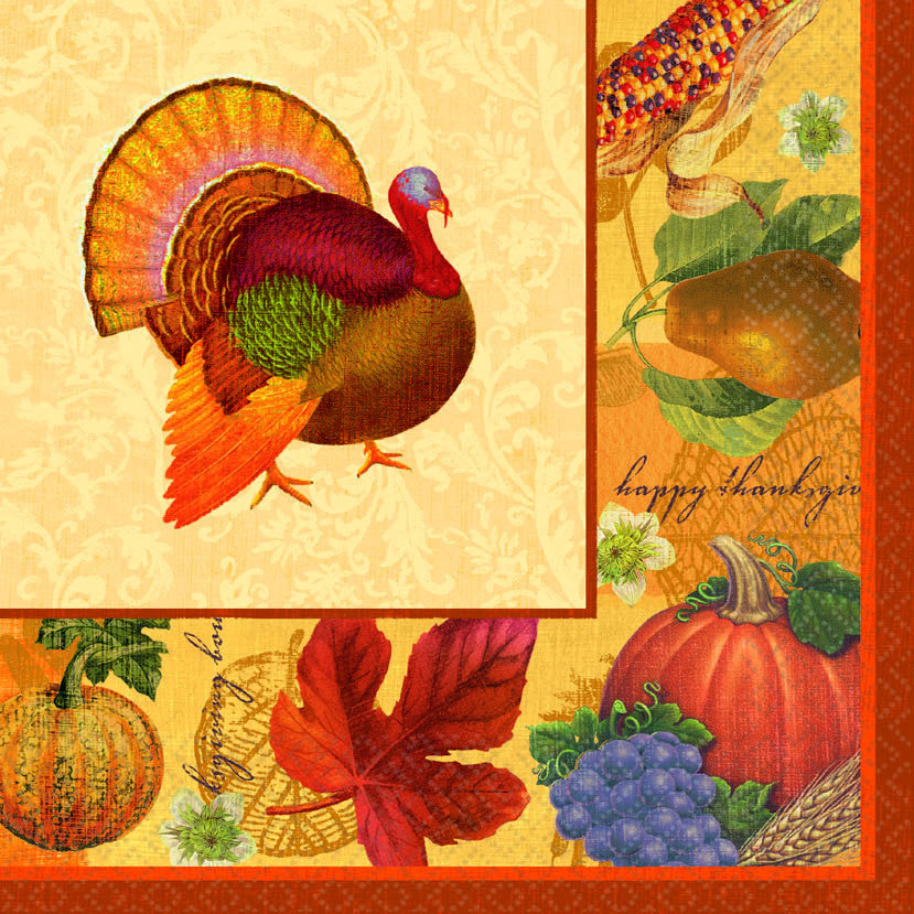 Thanksgiving Scrapbook Lunch Napkins