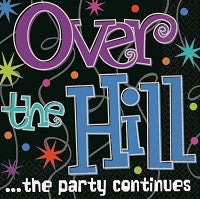 Over the Hill - Beverage Napkins - Birthday