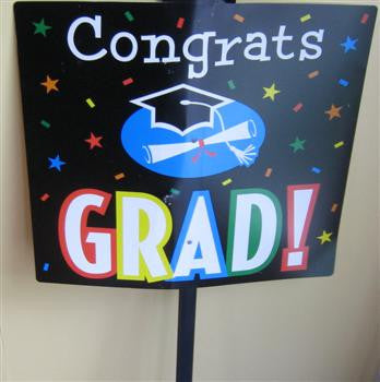 Grad Stripes - Yard Sign