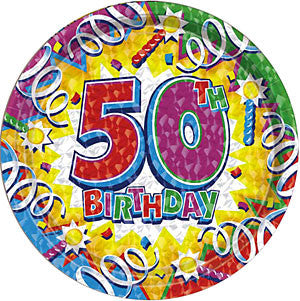 Birthday Explosion 50th - Plates - 7""