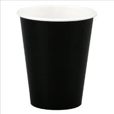 Cups - Paper - 9 oz - Black - (8)