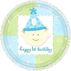 1st Birthday Boy - Plates 7""