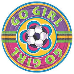 Soccer Girl Happy Birthday Beverage Napkins