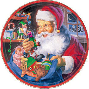 Santa's Workshop Plates - 7""