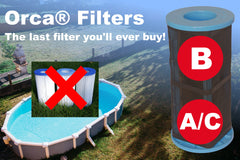 Orca® Filters Size A/C Pool Filter