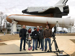 The NRP Crew on production at the US Space and Rocket Center, Huntsville AL, for the Documentary Principles of Curiosity.